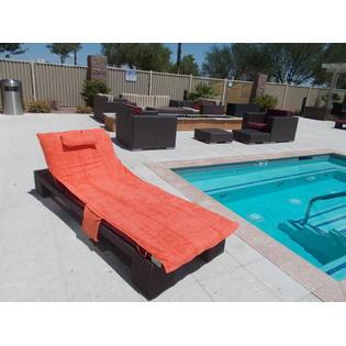 beach chair cover maccabee chairs costco up towel sun orange lounge pool