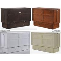 Night and Day Clover White Queen Cabinet Bed