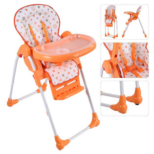 infant feeding chair work accessories high chairs booster seats kmart goplus adjustable baby toddler seat folding orange