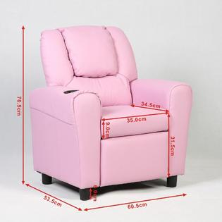 kid recliner chair baby doll high target costway kids armchair children s furniture sofa seat couch w cup holder