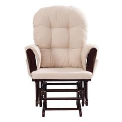 Rocking Chair Ottoman Cushions Chairs Boardroom Goplus Baby Nursery Relax Rocker Glider Set W Cushion Beige