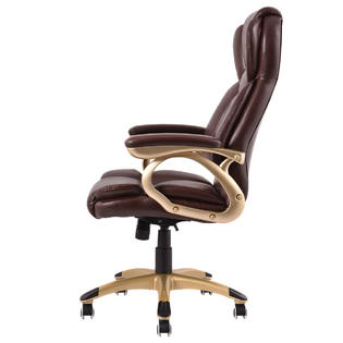 brown computer chair covers jackson ms goplus ergonomic office pu leather high back executive desk task 3