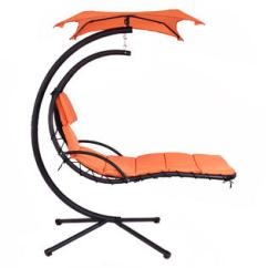 Hanging Hammock Lounge Chair Recliner Patio Goplus Op3140or Chaise Arc Stand Air Porch Swing Canopy New 2