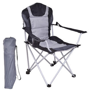 folding bag chair french desk goplus portable fishing camping seat cup holder beach picnic outdoor