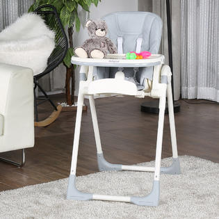height adjustable high chair baby exercise upper body safeplus infant toddler feeding booster folding recline 2