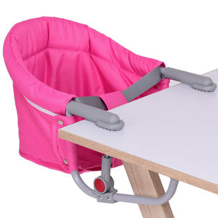 portable baby high chair hook on child rocking plans goplus folding clip booster fast table seat pink
