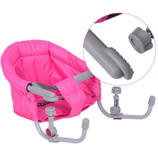 portable baby high chair hook on wooden indoor rocking chairs goplus folding clip booster fast table seat pink