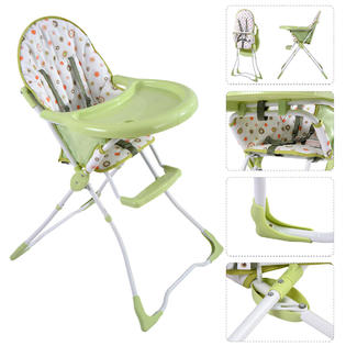 portable folding high chair covers wedding london chairs booster seats kmart safeplus baby infant toddler feeding seat safe green