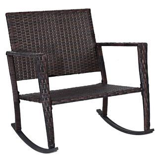 2 pc rocking chair cushions la z boy office goplus hw57335gr 3 patio rattan wicker furniture set coffee table new