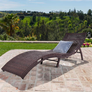 lounge chair patio wedding covers diamante chaise chairs kmart costway mix brown folding rattan outdoor furniture pool side