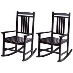Wooden Rocking Chairs For Adults Indoor Revolving Chair Company In India Adult Wood Rocker Goplus Set Of 2 Porch Outdoor Patio Furniture Black