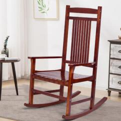 Wooden Rocking Chairs For Adults Indoor Painting Dining Room Solid Wood Goplus Porch Chair Rocker Outdoor Patio Backyard Furniture