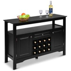 Kitchen Buffet Primal Hutches Buffets Kmart Goplus Storage Sever Cabinet Sideboard Table Wood Wine Rack Dining Black