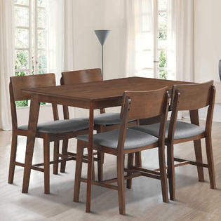 kitchen table and chair sets swivel navy dining sears goplus 5 pcs mid century modern set 4 upholstered chairs