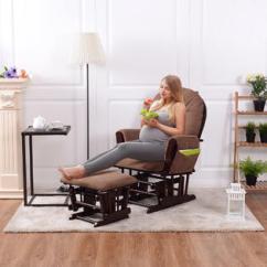 Baby Room Rocking Chair Stack Chairs Cheap Goplus Nursery Relax Rocker Glider Ottoman Set W Cushion Espresso