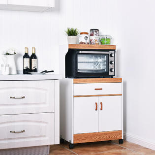 goplus microwave cart stand with drawer