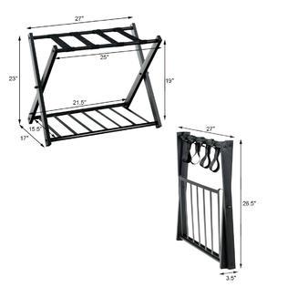 goplus folding metal luggage rack