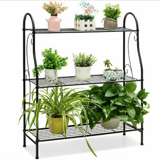 outdoor bakers rack plant stand