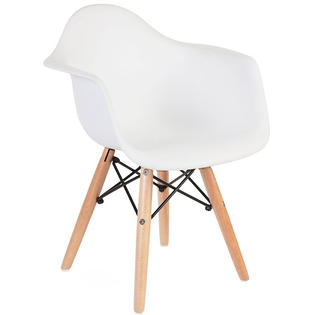 eames arm chair twin bed sleeper homelala set of two 2 white kids size armchair