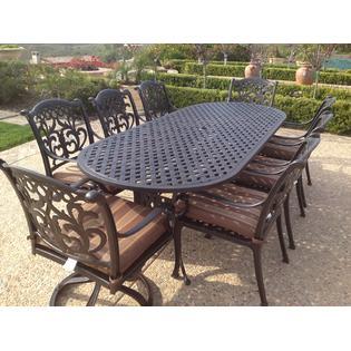 mandalay outdoor patio 9 pc dining set