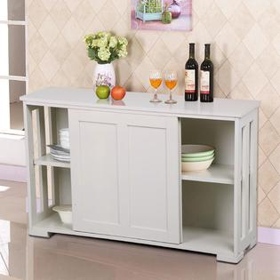 kitchen buffet new ideas hutches buffets sears yaheetech antique white stackable sideboard storage cabinet with sliding door dining room furniture