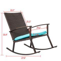 Handmade Rocking Chairs Cool Game Reoc003bn Kinbor Pe Wicker Chair Rattan Rocker Armchair All Weather Outdoor Seat W