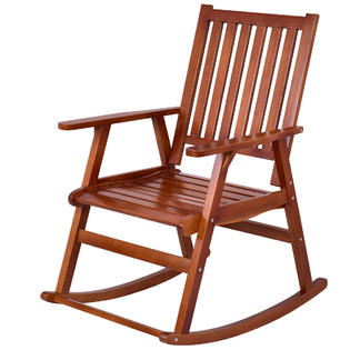 bedroom rocking chair overstock com dining chairs 2 seating sears gymax solid wood rocker indoor outdoor porch patio furniture natural new