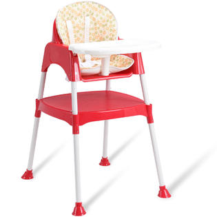 seat high chair throne cover chairs booster seats kmart gymax 3 in 1 baby convertible table toddler feeding highchair red