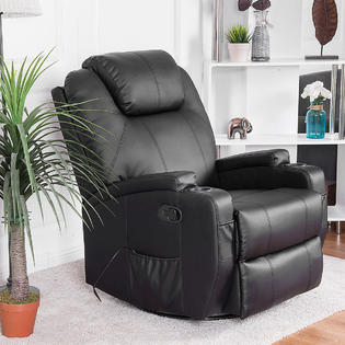 sears recliner chairs heavy duty electric lift chair body back massagers on sale massage gymax sofa heated 360 degree swivel with cup holder