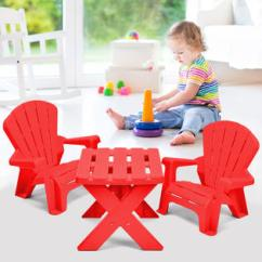 Toddler Plastic Chairs Best Standing Desk Chair Gymax Children Kids Table Set Play In Outdoor Furniture Red New