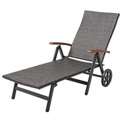 Beach Chair With Wheels Lee Industries Dining Chairs Folding Gymax Recliner Adjustable Lounge Patio Deck Brown Rattan