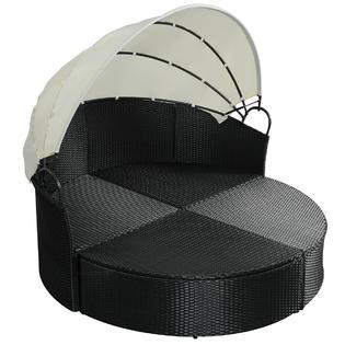 gymax gys02087 outdoor patio sofa round