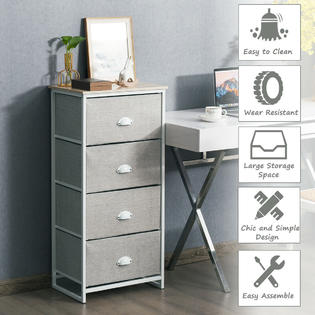 4 drawers dresser chest storage tower