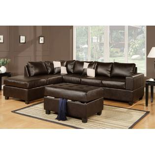 sectional sofa couch french provincial sofas couches sleeper sears hollywood decor lombardy in bonded leather with free ottoman