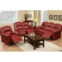 Red Living Room Sets White Furniture Set Collections Sears Hollywood Decor Grenoble Bonded Leather Reclining