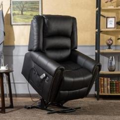 Motorized Easy Chair Espresso Leather Dining Chairs Sleeper Recliner Mcombo Electric Power Lift Dual Motor Infinite Position Lay Flat Pu With