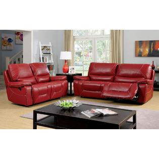 leather red sofa homelegance novak black elegant lounger with pull out trundle ashley furniture foa perfect living room style 3pc bonded loveseat glider recliners