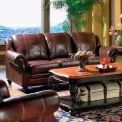 Burgundy Leather Sofa And Loveseat For Love Coaster Princeton Collection Traditional Tri Tone 2 Pc Living
