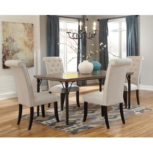 s dining chair outdoor cushions sunbrella chairs kitchen sears ashley tufted back linen 4pc set modern comfort room new