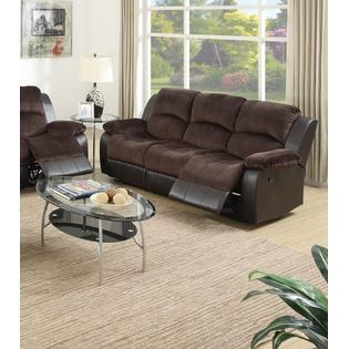 suede living room furniture pictures of beautiful designs esofastore 2pc recliner sofa set motion and loveseat chocolate padded faux leather family