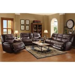 Burgundy Leather Sofa And Loveseat Overstuffed Couches Sofas Princeton Tri Tone Set Acme United Transitional Living Room 3pc Chair Aire