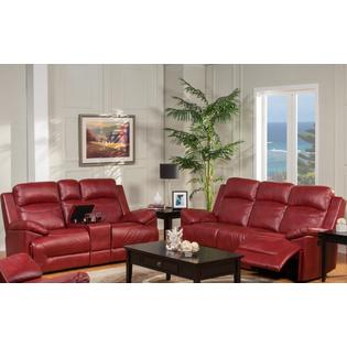 red leather living room furniture set storage for toys sofas loveseats sofa sears esofastore modern luscious unique dual recliner 3pc