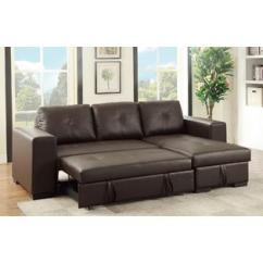Leather Living Room Furniture Sets Modern Decor For Small Collections Sears Esofastore Modular Convertible Sectional Set Sofa W Pull Out Bed Storage Chaise Espresso Faux