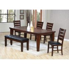 Black Table And Chairs Aeron Chair Spare Parts Uk Dining Sets Collections Sears Acme United Urbana Cherry Pu Room 6pc Set Classic Bench Comfort