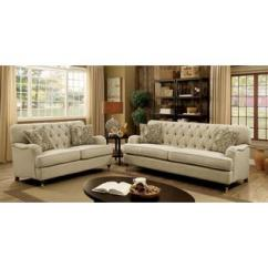 Beige Sofa Set Cb2 Piazza Craigslist Furniture Of America Traditional Classic Loveseat And Chair 3pc Tufted English Arms Unique Legs Solid Wood Living Room