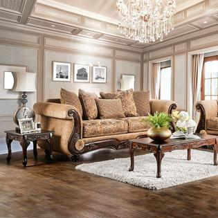 gold leather sofa set dealers in mumbai furniture of america traditional and bronze chenille 2pc loveseat formal living room elegant rolled arms faux couch usa