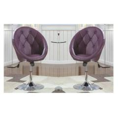 Purple Swivel Chair Vintage Bentwood Chairs Esofastore Modern Contemporary Design 2pc Set Vanity Stool Seat Bedroom Dining Living Kitchen Room Adjustable Height
