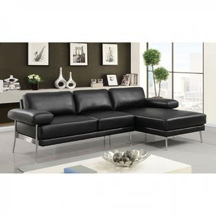 american furniture living room sectionals style ideas 2017 of america contemporary sectional sofa black breathable leatherette 2pc