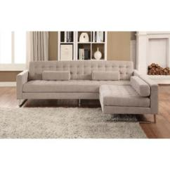 Living Room Furniture For Less Black Wall Units Acme United Beige Fabric Sectional Sofa 2pc Set Arm Chair
