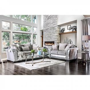 traditional style living room wall lighting fixtures hs 2pc furniture silver fabric sofa set made in usa 4